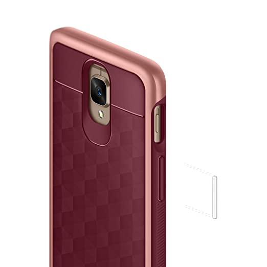 separation shoes c08b5 df108 Caseology Parallax for OnePlus 3T / OnePlus 3 Case (2016) - Award Winning  Design - Burgundy