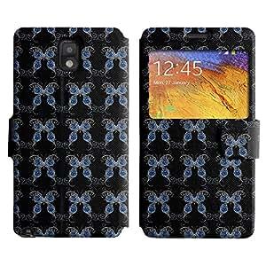 LEOCASE mariposa azul Funda Carcasa Cuero Tapa Case Para Samsung Galaxy Note 3 N9000 No.1003426