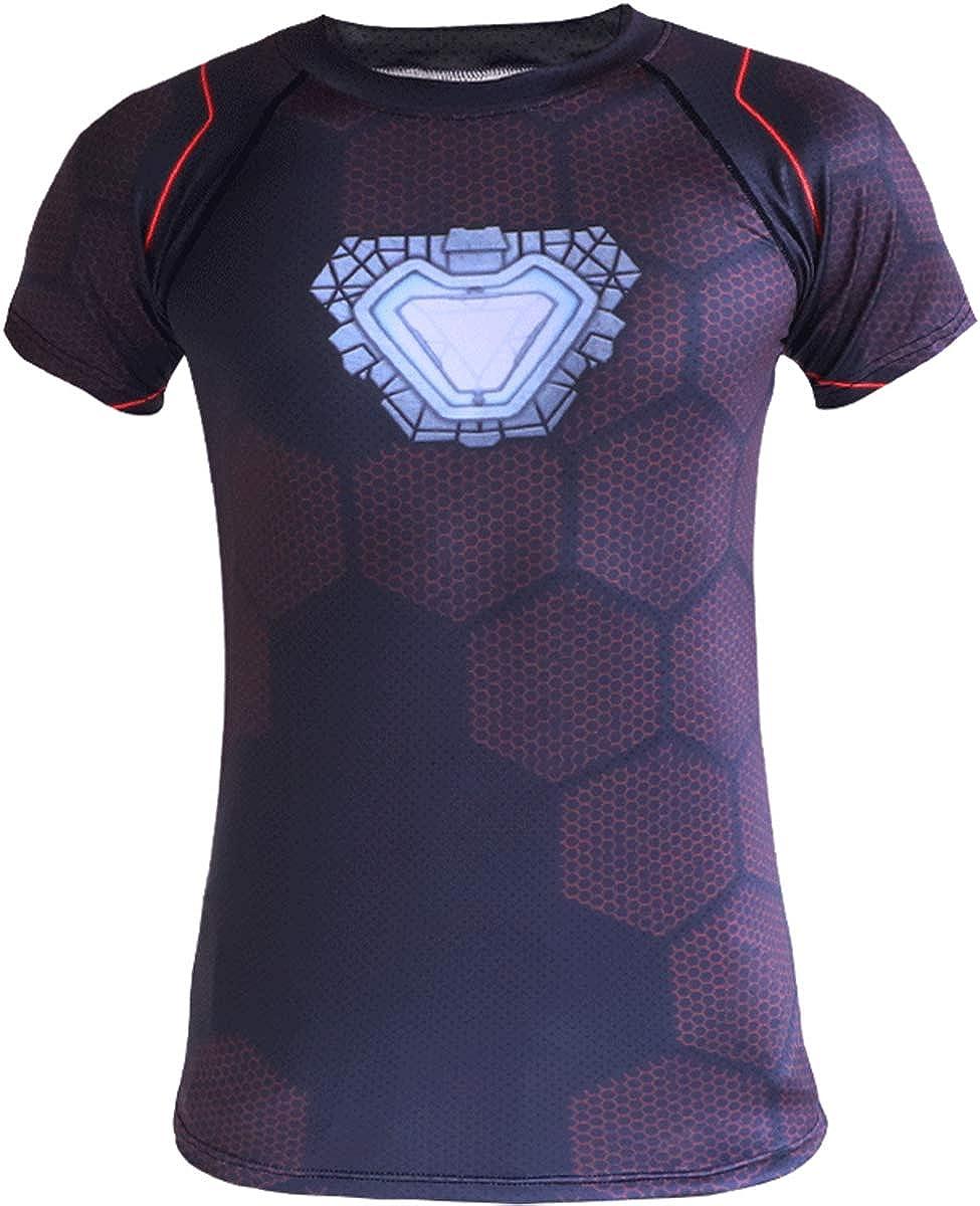Camiseta De Avengers, Camiseta De Manga Corta De Hombre De Hierro Secado Rápido para Hombre, Camiseta Manga Corta Unisex Casual Superman Casual