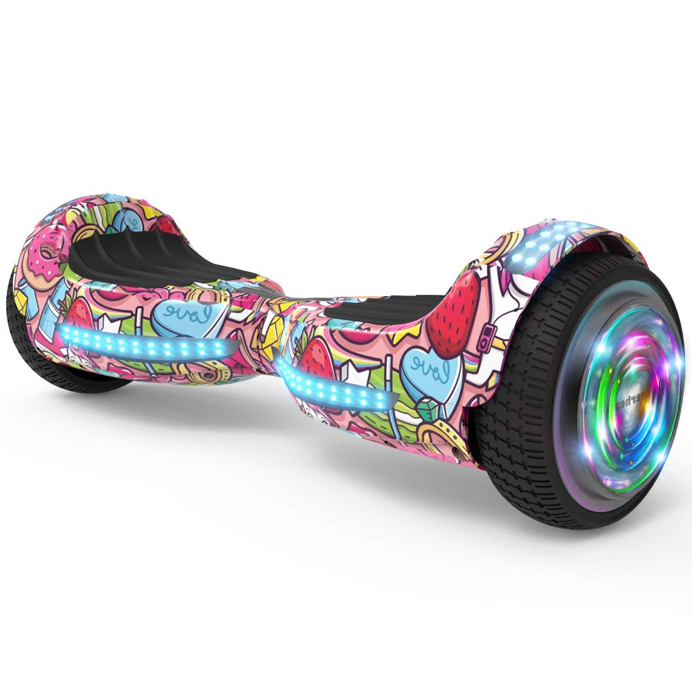 Hoverboard Flash Wheel 6.5'' UL 2272 Certified Wireless Speaker with LED Light Self Balancing Wheel Electric Scooter (Unicorn)