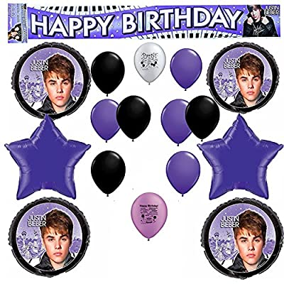 Justin Bieber Birthday Party Balloon Decoration Kit