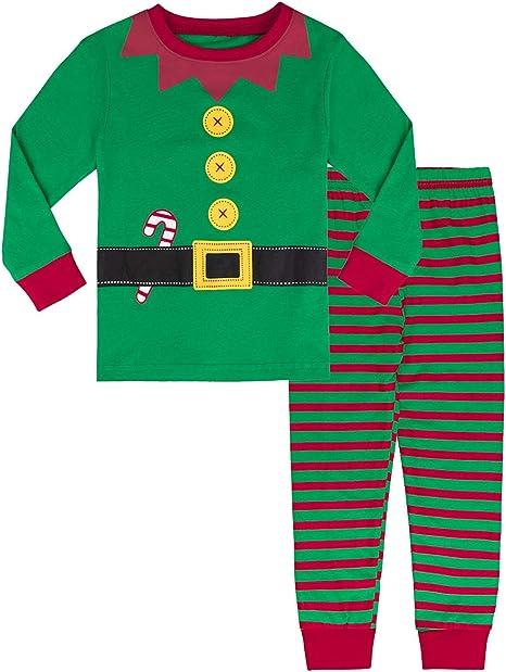 MOMBEBE COSLAND Conjunto de Pijamas Bebé Niños Navidad Manga Larga 100% Algodón: Amazon.es: Ropa y accesorios