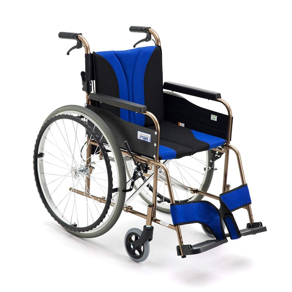 【超ポイント祭?期間限定】 MEI GUI チタンアルミ合金高齢者用バリアフリー車椅子 (色 GUI : 青 (色 青) 青 B07LD6MY67, 雑貨のおもちゃ箱バーグ:824cb3a6 --- a0267596.xsph.ru