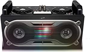iLive BPM DJ Bluetooth Wireless Sound System, Sound Effect Wheels and Mixer with Crossfader, Light Effects, Black (iJDJ787B)