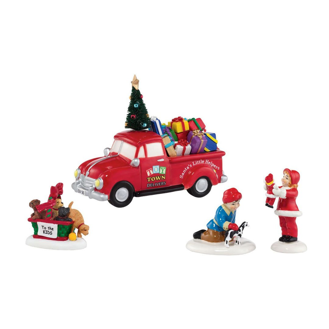 Department 56 Snow VillageToy Town Accessory Set of 4 Retired 4035578