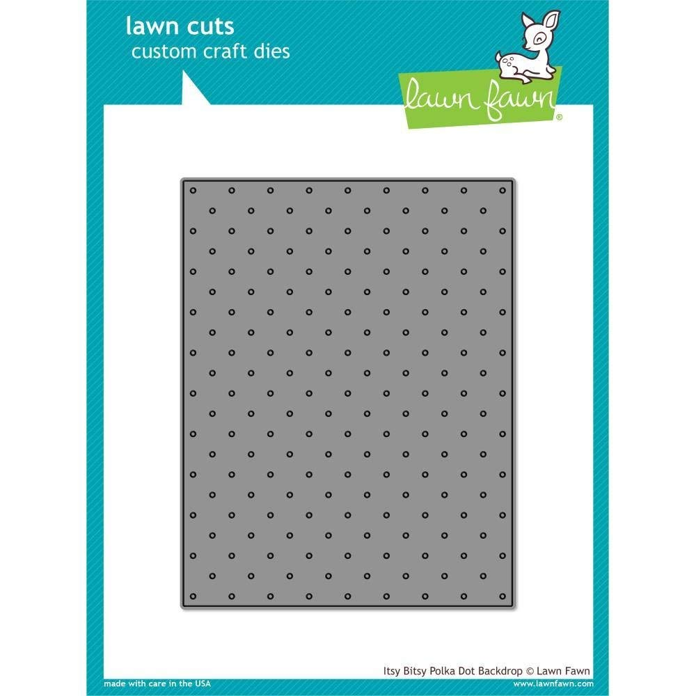LF1721 Itsy Bitsy Polka Dot Backdrop Lawn Fawn Lawn Cuts Custom Craft Die