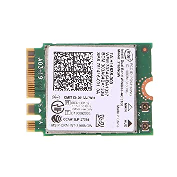 Bogji Intel Dualband Wireless 802.11 AC 3160 NGW NGFF Bluetooth 4.0 Tarjeta WLAN