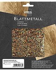 Kreul 99433 – płatki metalowe metaliczne, 2 g na ok. 0,33 m2, do uszlachetniania drewna, papieru, płótna, kartonu, styropianu, tworzywa sztucznego, wosku, ceramiki, porcelany i wielu innych