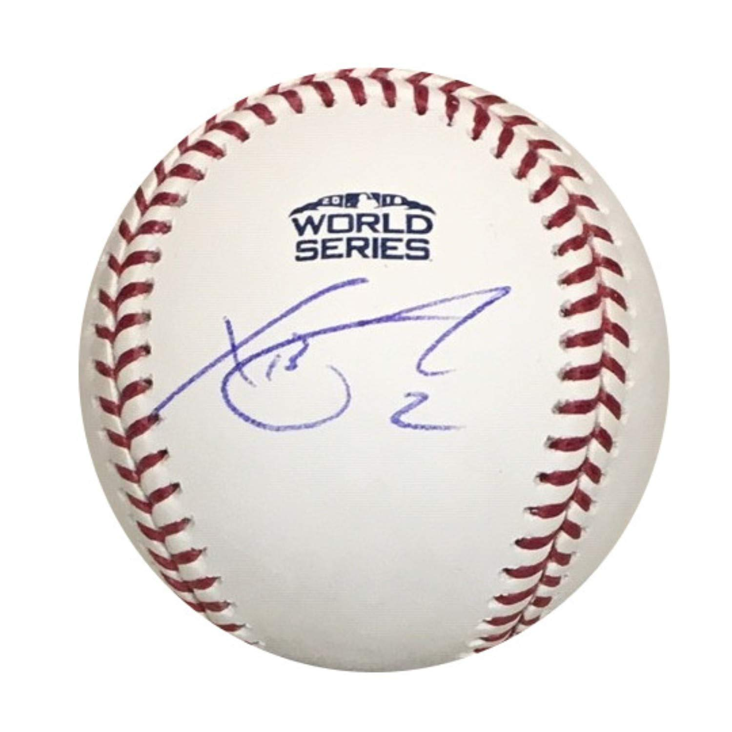 Xander Bogaerts Boston Red Sox Autographed 2018 World Series Signed Baseball PSA DNA COA With UV Display Case Powers Collectibles
