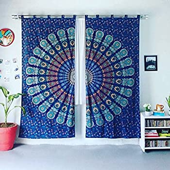 Amazon Boho Living Room Curtains Bohemian For Bedroom