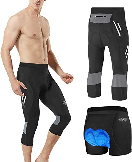 Men Bike Pants 4D Padded Tights MTB Road Cycling Sports Leggings Stretchy Bottom