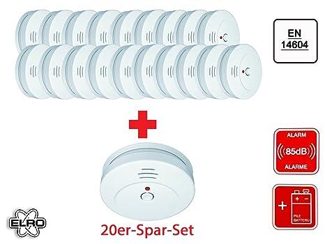 Conjunto de 20 Elro RM144C detector óptico, VdS-Certificado, 85 db, pruebas