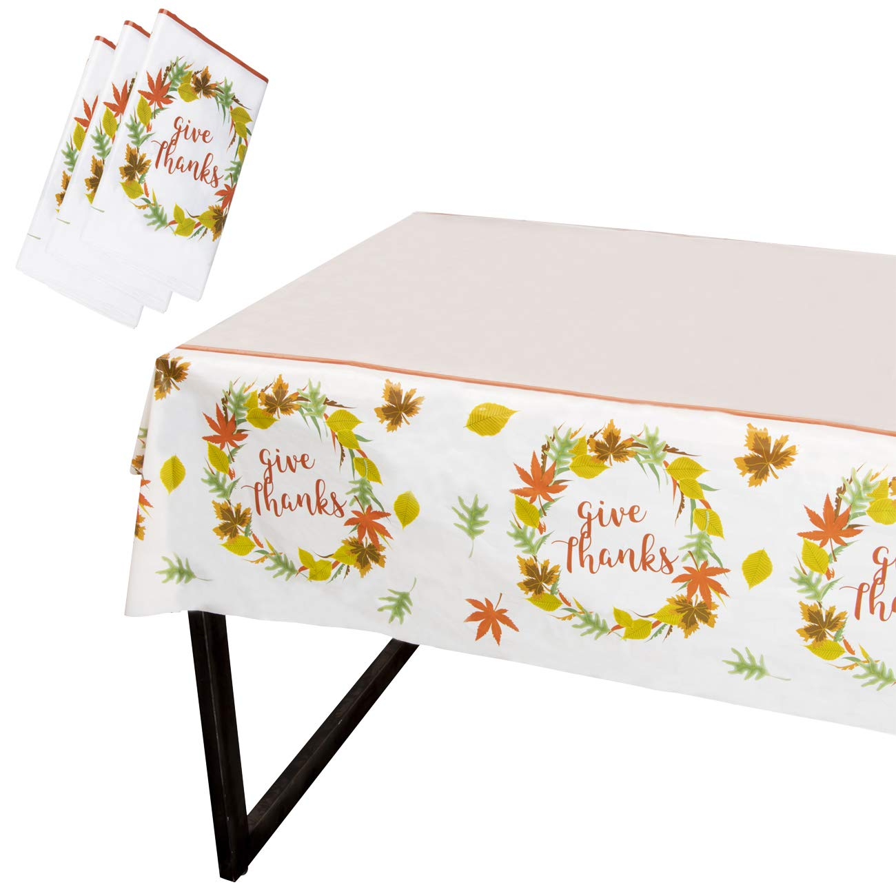 Amazon Com Juvale Thanksgiving Party Tablecloth 3 Pack Disposable