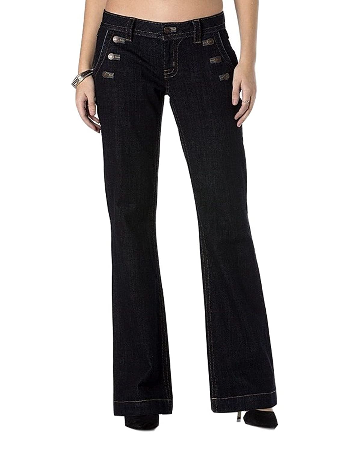 Miss Me Denim Jeans Womens Trouser 3 Buttons Dark Wash MS5148W14