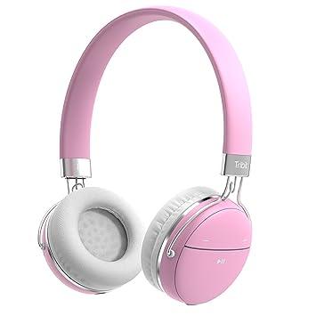 Tribit XFree Move - Auriculares estéreo inalámbricos con micrófono, Color Rosa: Amazon.es: Electrónica