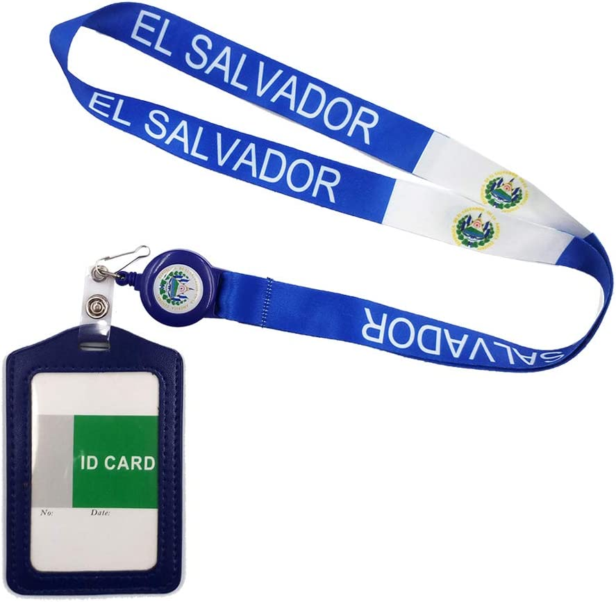 Double Sided ID Card Badge Holder /& Visitor ID Soft Neck Lanyard Free P/&P