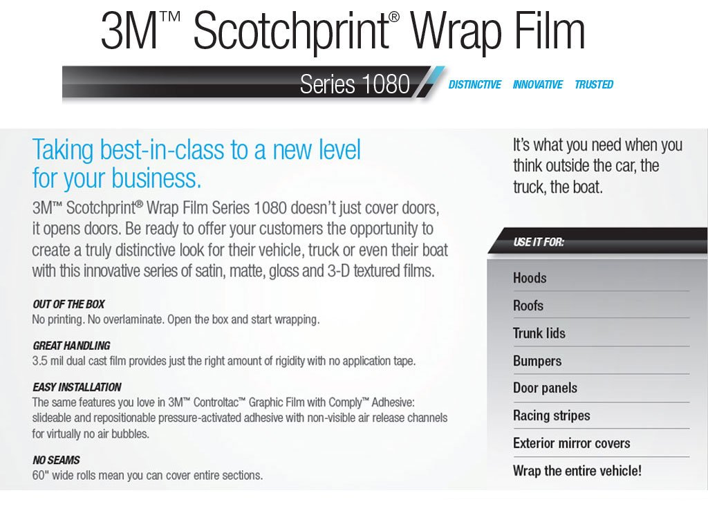 3M 1080 G83 Gloss Dark RED 5ft x 1ft W//Application Card Vinyl Vehicle Car Wrap Film Sheet Roll
