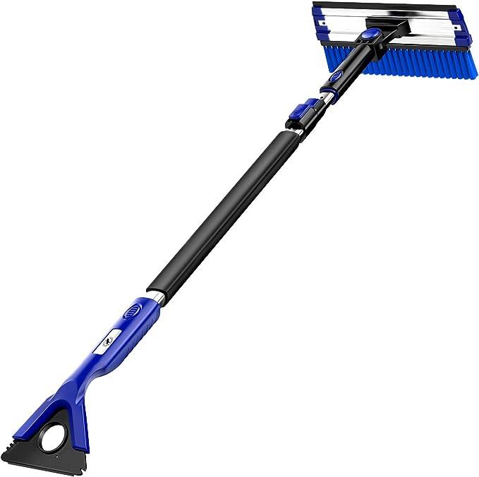 1X Coche Nieve Hielo Raspador durable herramientas de eliminación de Cepillo Pala de Nieve para Invierno Azul