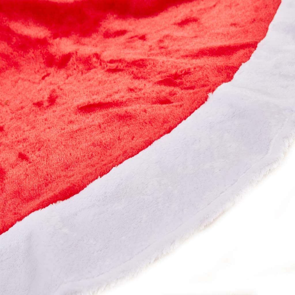 Large Red and White Holiday Traditional Velvet Christmas Decorations for Home Lalent Christmas Tree Skirt 48 inches