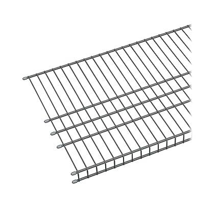 amazon com: closetmaid 73571 maximum load 6ft  by 16in  garage wire shelf,  satin chrome: home & kitchen