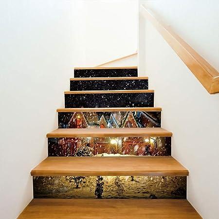 LLX Pegatina De La Escalera Mural De La Pared Pintura De La Pared Pegatina De La
