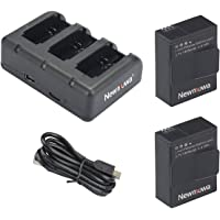 AHDBT-302 Newmowa 1300mAh Rechargeable Battery (2-Pack) and Rapid 3-Channel Charger for Gopro Hero 3, Gopro Hero 3+, AHDBT-301, AHDBT-302