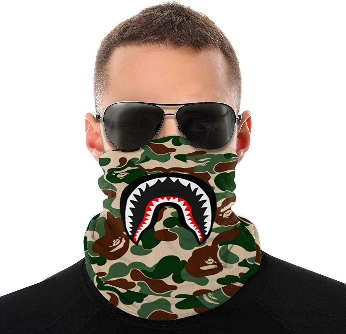 Shark Graphic Variety Turban Face Protection Mouth Cover Bandanas For Dust, Outdoors, Sports Shark