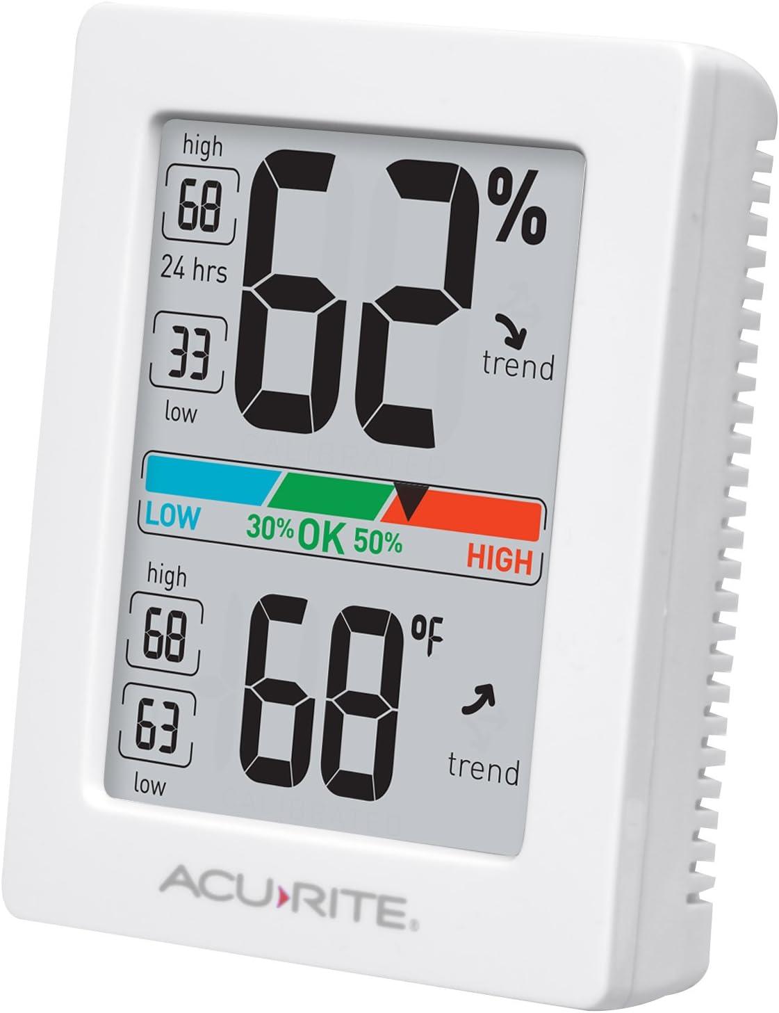 MITIR CX-318 Hygrometer Indoor Room Humudity Meter Thermometer with Alarm Clock