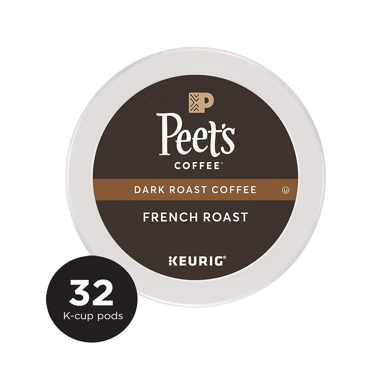 Peet's Coffee French Roast Dark Roast Coffee K-Cup Coffee Pods, 32 Count