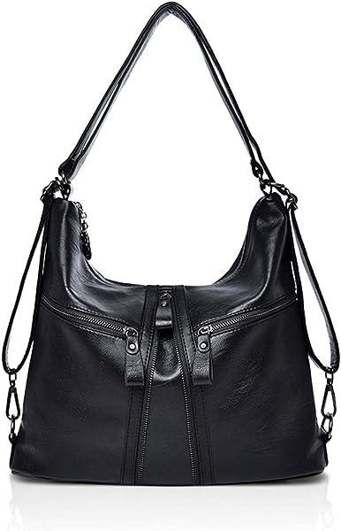 Amazon.com  NICOLE   DORIS BIG SALE Womens PU Leather Vintage Shoulder Bag  Ladies Handbags Tote Fashion Purse Cross Body Bags Black  Shoes 0e9a2a44e4fab