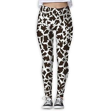d6259c77e0800 Women's Animal Fur Printed Leggings Full-Length Yoga Workout Leggings Pants  Soft Capri at Amazon Women's Clothing store: