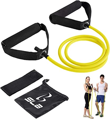 12M Resistance Bands Workout Fitness Exercise Pull Rope Tube Strap Handles UK
