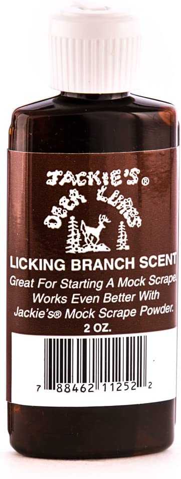 Jackies Deer Lures Licking Branch Scent with Flip Cap, 2-Ounce