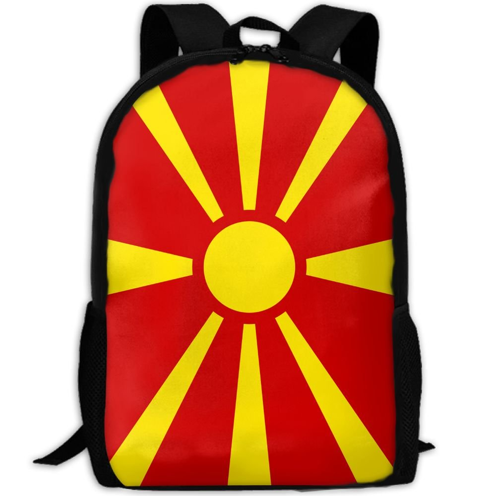 Kuswaq Flag Of Macedonia Unisex Trendy Hiking Gym Bag Daypack Travel Shoulder Bag durable service