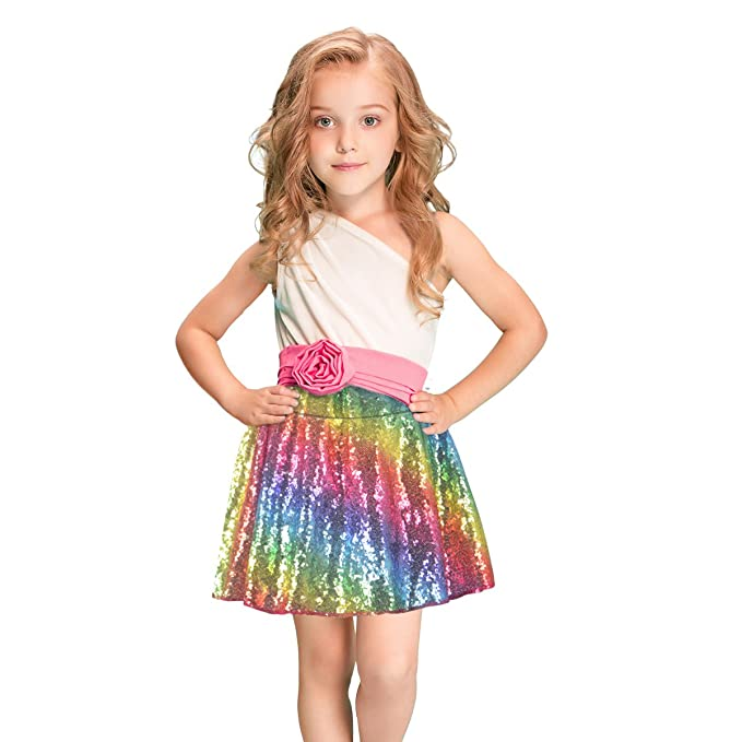 64e04e47 Amazon.com: Sequin Skirts for Girls Rainbow Glitter Skirts Sparkly Fabric  Skirts for Unicorn Party, Halloween Party, Ballarina Costumes: Clothing
