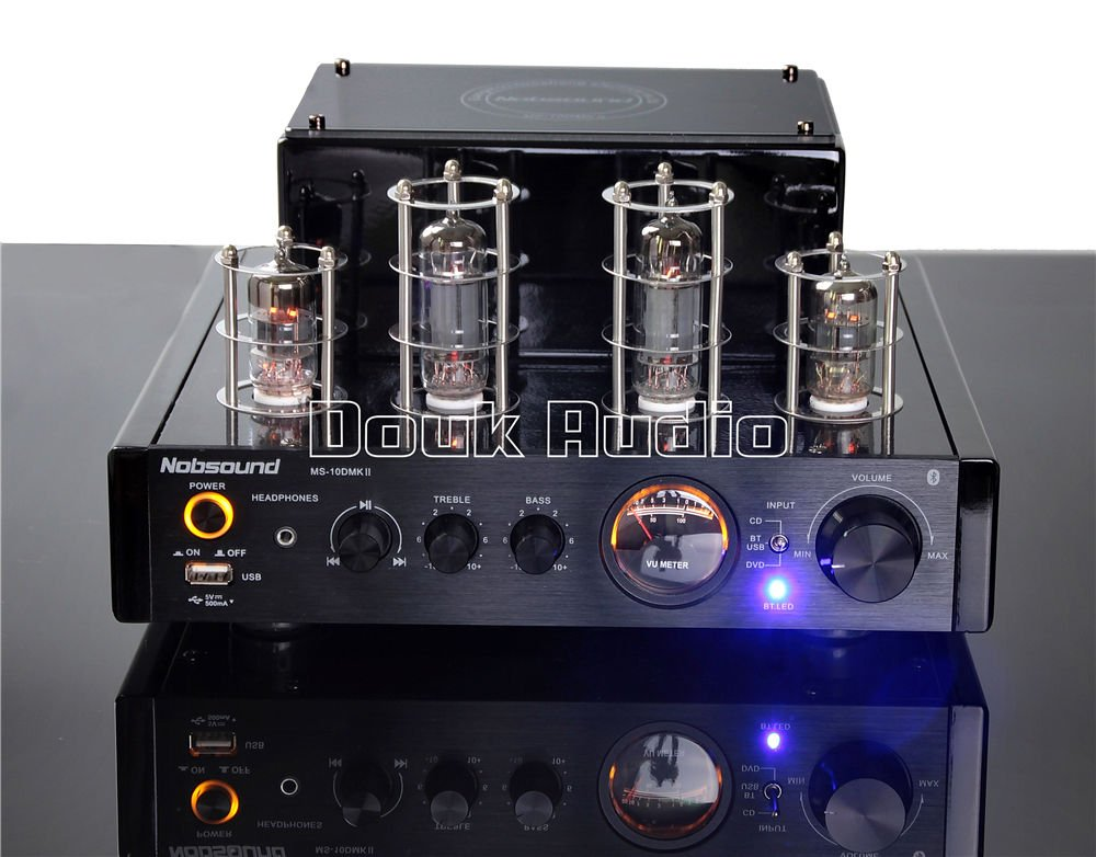 Nobsound MS-10D MKII Hybird Tube Amplifier with Bluetooth/USB/Headphone for Hi-Fi (Black) by Nobsound