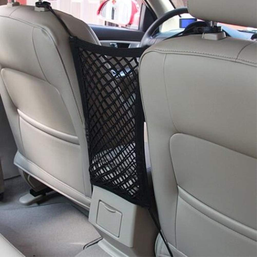 25cm Car Styling Net Pocket Pouch Bag for Groceries Iswell Car Organizer Seat Back Storage Elastic Car Mesh Net Bag Between Bag Luggage Holder Pocket for Auto Vehicles 30