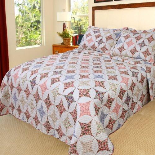 UPC 886511319820, Bedford Home Charlotte Printed 3-Piece Quilt Set, King