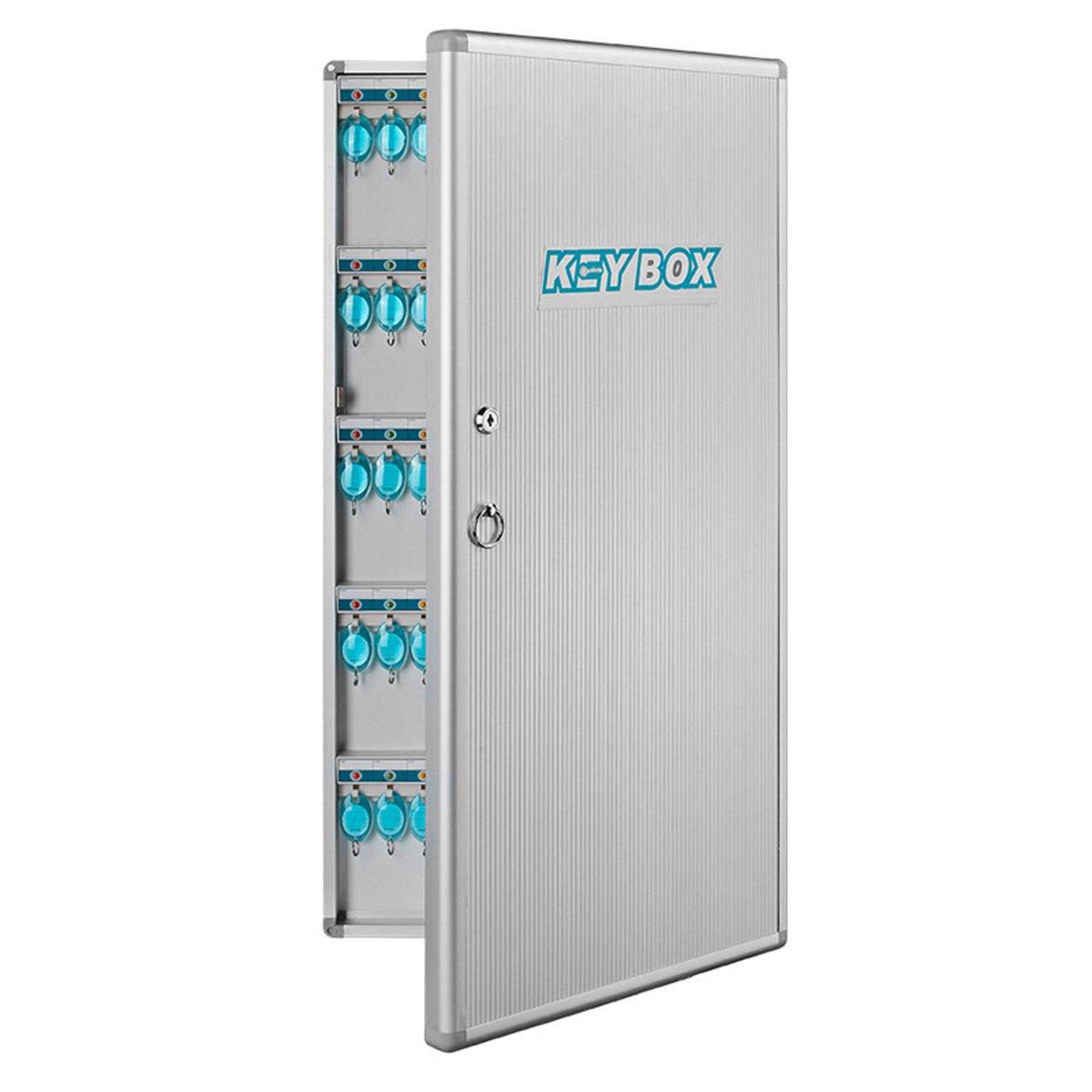 Popowbe 120 key management box aluminum key box key cabinet wall hanging