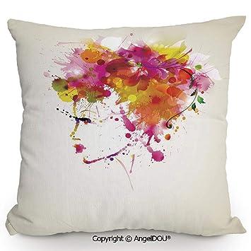 Amazon.com: AngelDOU - Funda de almohada de lino y algodón ...