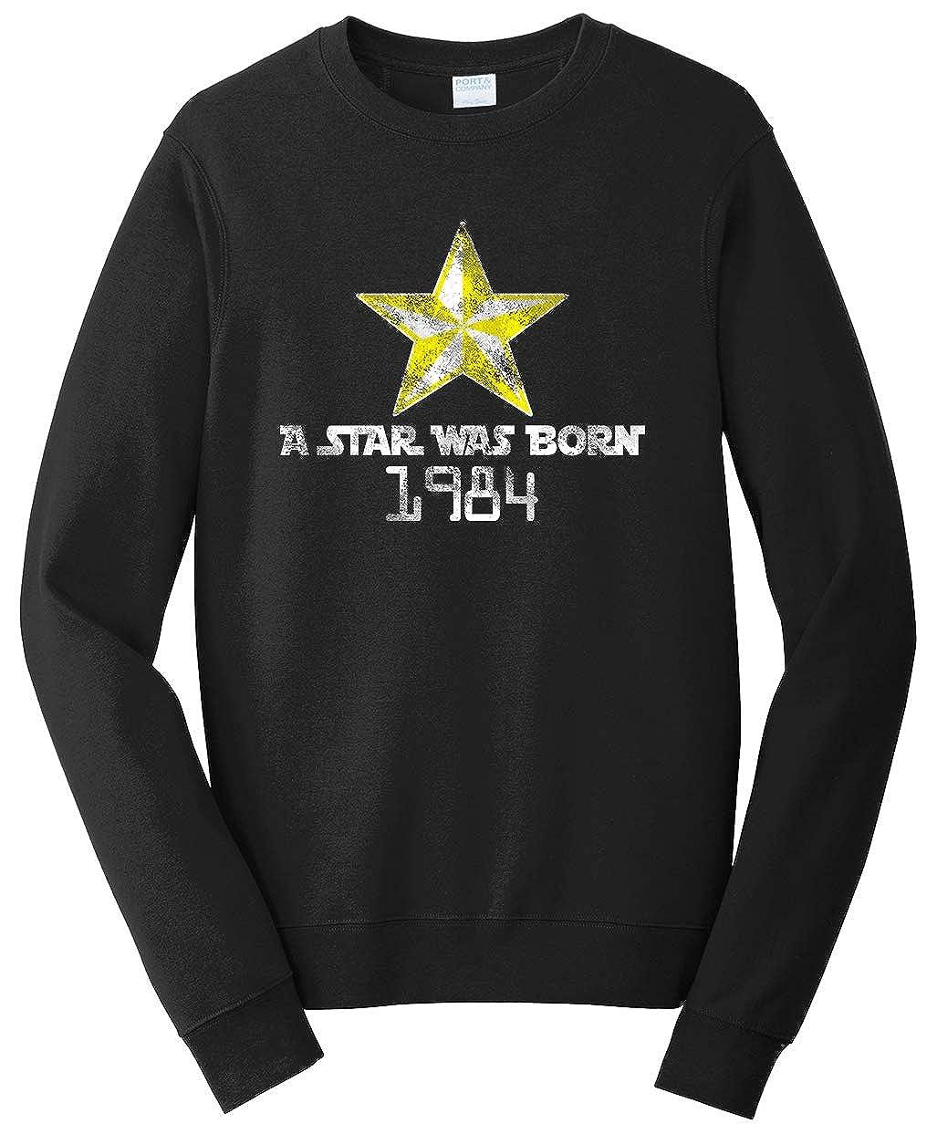 Tenacitee Unisex A Star was Born 1984 Sweatshirt