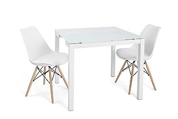 Noorsk Lote formado por una Mesa Home + 2 sillas Tower Blancas ...