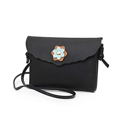 Fashion Womens Leather Flower Decoration Crossbody Bag Phone Bags Messenger Bag Shoulder Bag womens handbags totes