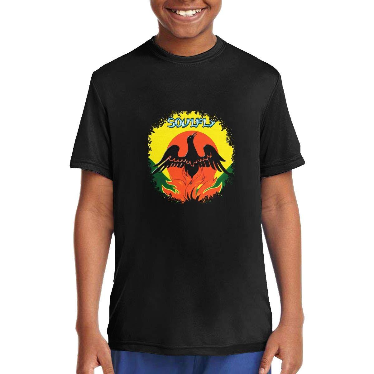 MoiqhHUswss Soulfly Primitive Children T Shirts Short Sleeve Tees Boys Girls