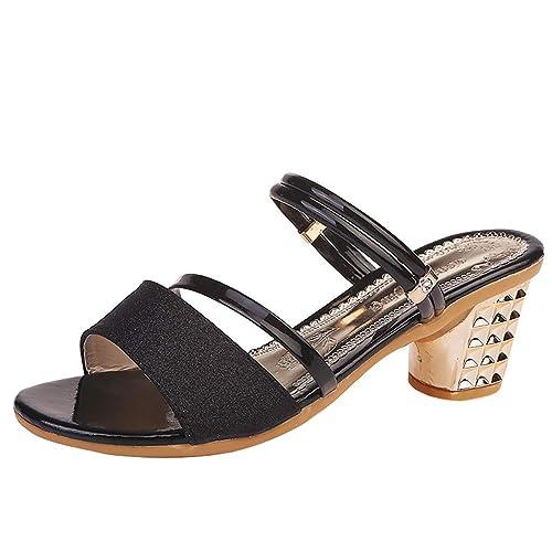 GNYD Sandalias Correctoras Juanetes Mujer Verano Planas Moda Romanas,Nuevo Zapato De TacóN Alto Cuadrado Zapatilla De Colores Brillantes.
