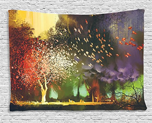 Colorful Tapestry Ambesonne Mysterious Supernatural