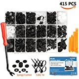 gm fender pins - EZYKOO 415 Pcs Car Retainer Clips & Plastic Fasteners Kit - 18 MOST Popular Sizes Auto Push Pin Rivets Set -Door Trim Panel Clips For GM Ford Toyota Honda Chrysler