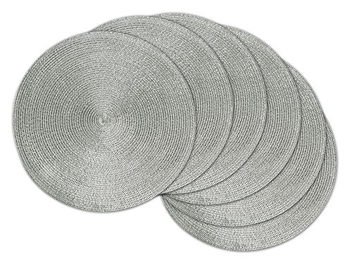DII Braided Outdoor Placemat Metallic