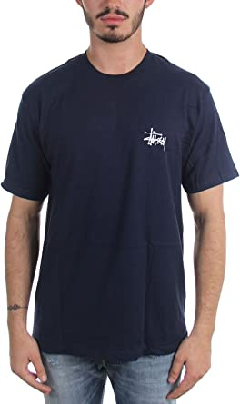 Stussy - Camiseta básica para Hombre, Talla M, Color Azul Marino: Amazon.es: Ropa y accesorios