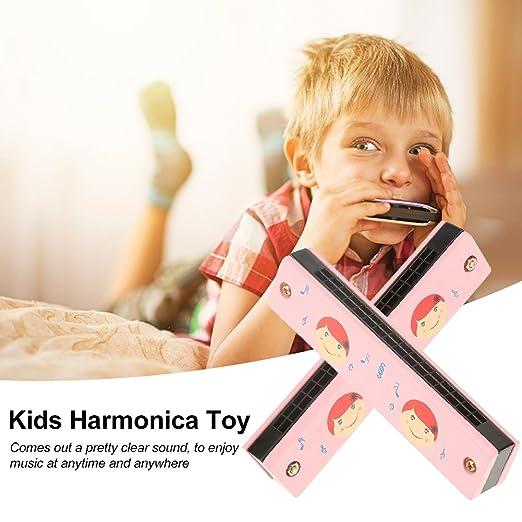 Armónica de 16 Agujeros para Chupete de Madera Suave, Instrumento de Aprendizaje Musical, Juguete Educativo niños (Color al Azar): Amazon.es: Instrumentos ...